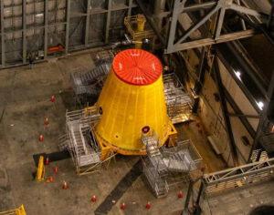 Adaptér LVSA v sekci High Bay 4 haly VAB, 9. září 2020