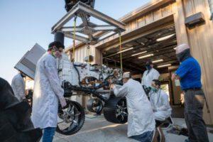 Vozítko OPTIMIS je téměř přesnou replikou roveru Perseverance.