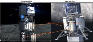 Porovnání nové a starší verze lunárního landeru Národního týmu