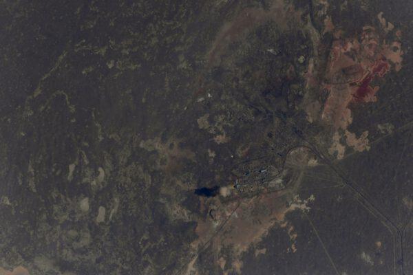 Start Sojuzu vyfotografovaný z ISS