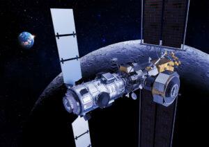 Thales Alenia Space získala kontrakt ESA na stavbu mezinárodního obytného modulu I-Hab (vlevo) a povolení k vývoji komunikačního a tankovacího modulu ESPRIT (vpravo) pro Gateway
