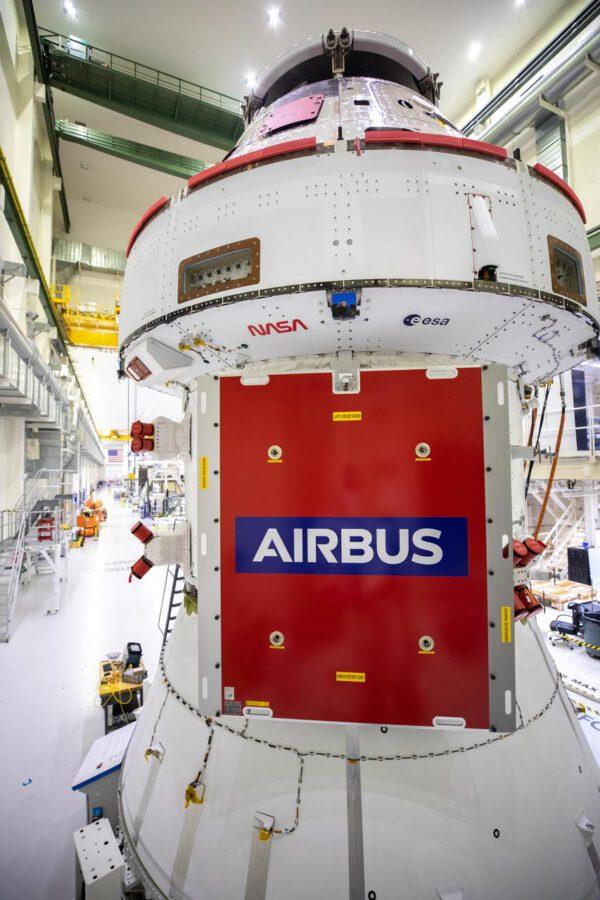 Orion v přípravě na instalaci solárních panelů, 23. září 2020
