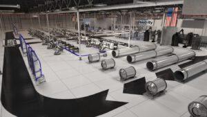 Představa budoucí výrobní linky Relativity Space