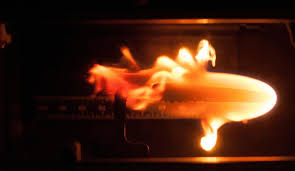 Ukázka hoření ve stavu mikrogravitace