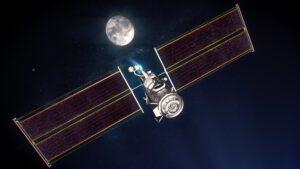 Vizualizace modulů PPE a HALO u Měsíce.