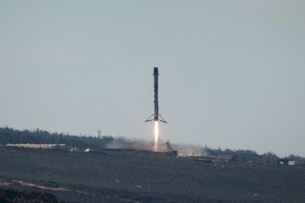 Závěrečná fáze přistání Falconu 9