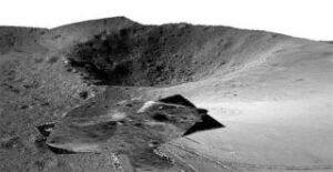 3D fotografie pořízená čínským lunochodem Jutu 2 (zdroj CLEP).