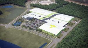Vizualizace floridské továrny firmy Firefly.