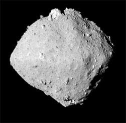 Planetka Ryugu (zdroj JAXA)