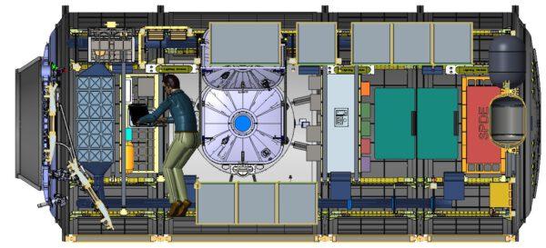 Vnitřní uspořádání modulu HALO