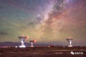 Parabolické antény v Kashgar Deep Space Station