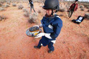 Pouzdro mise Hayabusa-2 s drahocennými vzorky z planetky Bennu