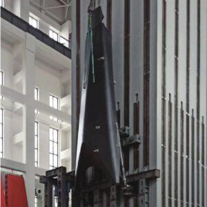 Výklopná přistávací noha budoucí rakety Dlouhý pochod 8R.
