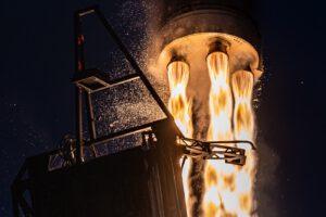 Fotografie ze zářijového letu rakety Rocket 3.1