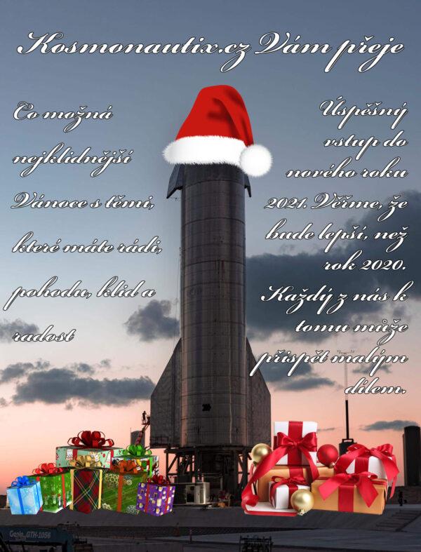 Redakce webu kosmonautix.cz přeje svým čtenářům klidné prožití Vánoc a úspěšný vstup do nového roku.