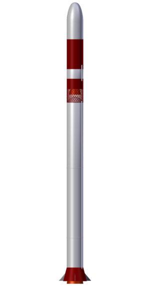 Indická raketa SSLV - umělecká představa.