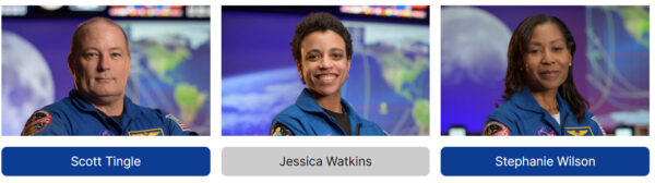 Scott Tingle - Jessica Watkins - Stephanie Wilson
