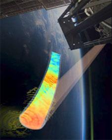 Sledování Země přístrojem AWE na palubě stanice ISS.