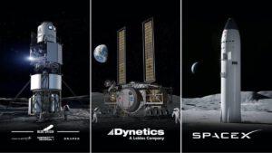 Tři návrhy pilotovaných lunárních landerů