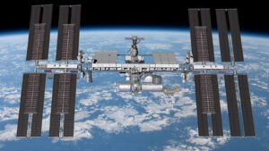 Vizualizace ISS se šesti novými fotovoltaickými panely.