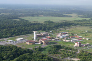 Technické středisko kosmodromu CSG v Jižní Americe.