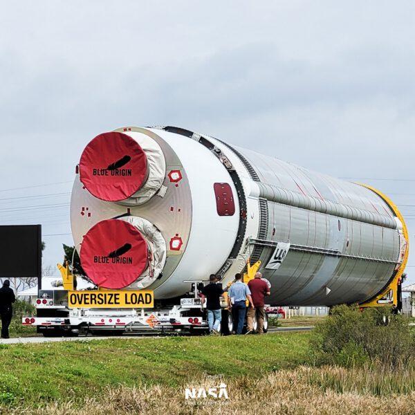 První letový exemplář prvního stupně rakety Vulcan