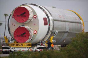 První stupeň rakety Vulcan má průměr těla 5,4 metru.