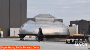 Horní kupole pro BN2 dostala dodatečnou výztuhu pro strukturální zpevnění.