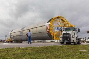 První stupeň Vulcanu měří na délku 33,5 metru.