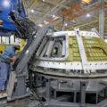 Svařování kabiny Orionu pro Artemis 3, leden 2021