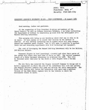Text Johnsonova projevu ohledně MOL