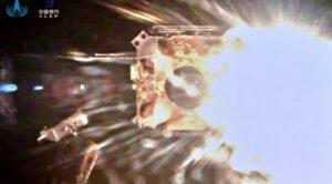 Štart ascenderu sondy Chang´e 5 z povrchu Mesiaca