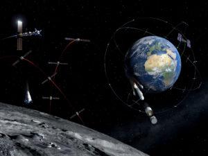 Budoucí možnosti komunikační a navigační sítě u Měsíce