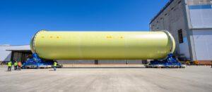 Přesun vodíkové nádrže z buňky P budovy 131 do prostoru 47/48 budovy 103, 3. března 2021