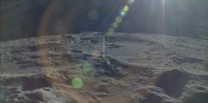 Snímek z oběžné dráhy Měsíce pořízený v roce 2007 japonskou sondou Kaguja.