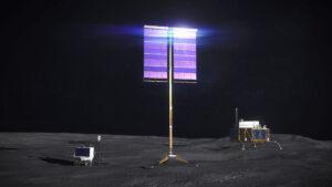 Umělecká představa otočného vertikálního fotovoltaického panelu