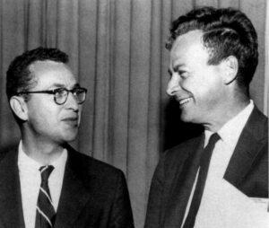 Dvě fyzikální superstar Caltechu, vlevo Murray Gell-Mann, vpravo Richard Feynman