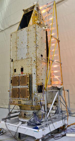 Struktura družice Biomass během testů vlivu změn teplot.
