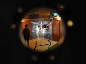 Testy proběhly v nejdelším koridoru v ESTEcu.