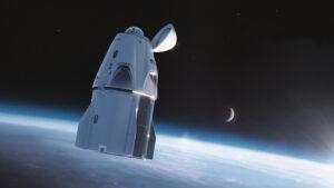 Upravená loď Crew Dragon s rozhledovou kopulí
