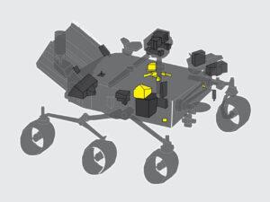 Rozložení jednotlivých částí přístroje MEDA.
