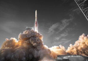Raketa Vulcan na vizualizaci