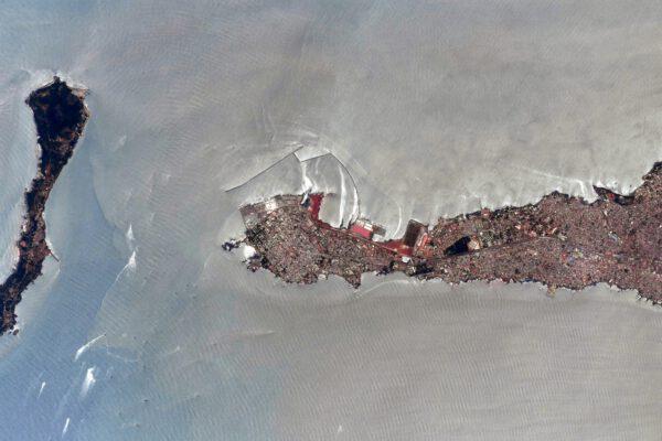 Detail výběžku hlavního města Guineje - Konakry. Zdroj: flickr.com