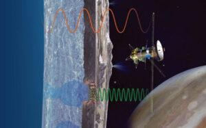 Průzkum podpovrchových vrstev Europy pomocí radaru.
