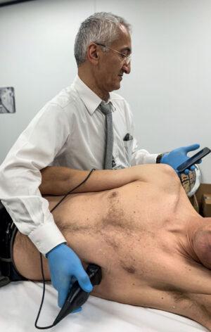 Butterfly IQ Ultrasound při vyšetření srdce.