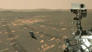 Sol 46: Perseverance pořídila kamerou Watson společné selfie s Ingenuity