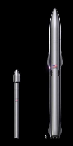 Srovnání raket Terran 1 a Terran R.