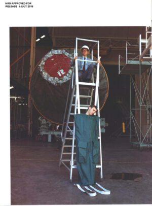 Záběr z testů spacího pytle pro piloty MOL