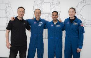 Posádka Crew-3 zleva Maurer, Marshburn, Chari, Barron
