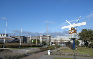 ESTEC - technologické a testovací středisko Evropské kosmické agentury.